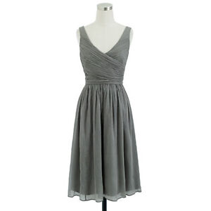 J Crew Bridesmaid Dress Heidi style Gray / Graphite Size 16