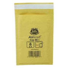 Jiffy Bags Airkraft Gold Size 00 - 115x195mm (100/box)