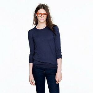 J CREW NAVY PULLOVER SWEATER-BRAND NEW!
