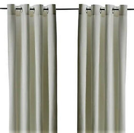 White eyelet curtains
