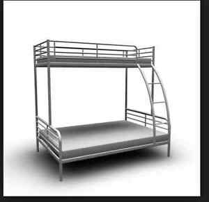 BUnK BED  IKEA grey metal