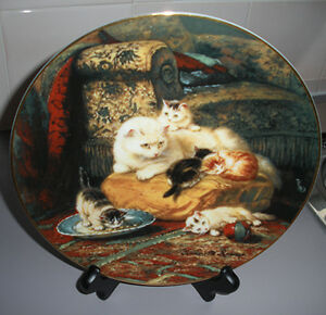 """Day Dreams""Fine China Cat Plate by Henriette Ronner"