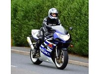 Suzuki GSXR K3 600 2003 EXTRA arrow exhaust, power commander, steering damper, alarm, datatag'd