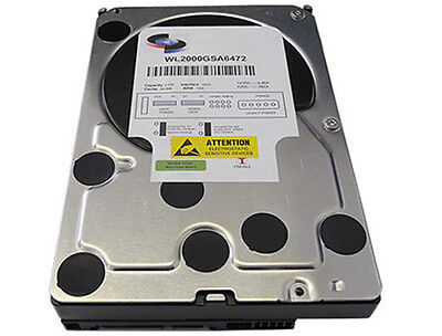 "White Label 2TB [64MB Cache] 7200RPM SATA 3.0Gb/s Desktop 3.5"" Hard Drive PC/DVR"