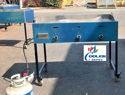 New 48 Outdoor Griddle Taco Grill Cart Propane Use Carne Asada Burgers Hot Dogs