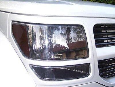 07-11 Dodge Nitro Smoke Head Light Precut Tint Cover Smoked Overlays
