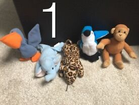 Set of 5 TY Beanie Babies