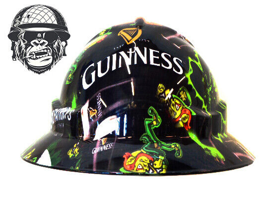 Custom Hydrographic Wide Brim Safety Hard Hats THE IRISH WIDE