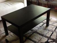 Black-brown coffee table - 118 x 78 cm