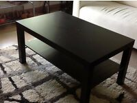 Selling my used black-brown color IKEA Lack coffee table