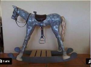 Hand Carved Wooden Rocking Horse Large Good Cond Tewantin Noosa Area Preview