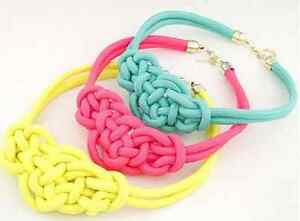 BRAND NEW Neon Pink Knotted Rope Necklace Kitchener / Waterloo Kitchener Area image 2