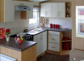 Cheap pre owned static caravan in mint condition for sale in dorset near weymouth. With DECKING!!