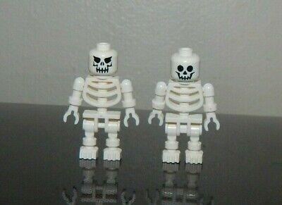 Lego Lot of 2 White SKELETON minifigs halloween