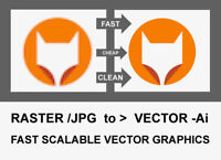 $40 - JPG RASTER IMAGES to VECTOR