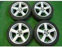 """17"""" AUDI/VW ALLOY WHEELS & TYRES 5X100(A1/S1/N4 GOLF, BORA,VW BEATLE, TT MK1)"""