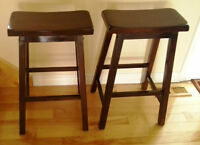 2 Saddle Seat Bar Stools
