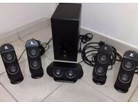 Logitech X530 5.1 surround sound speakers and subwoofer