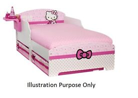 Hello Kitty Toddler bed in Excellent Condition( Mattress included)- ***7 days available only***