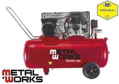 Compresor de aire 3 cv con depósito 100 litros Orion 100