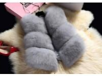 Real fox fur gilet