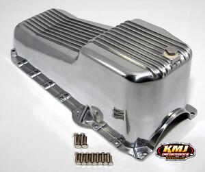 86-02 SBC Chevy Finned Aluminum Oil Pan - 305 5.0L 350 5.7L Vortec 1pc Rear Seal