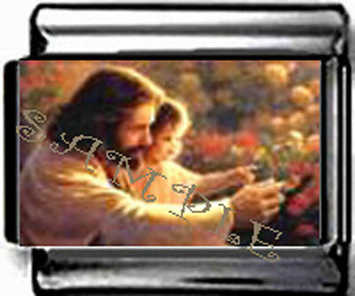 JESUS & Child #2 garden Italian Photo 9mm Charm for modular style LINK bracelet
