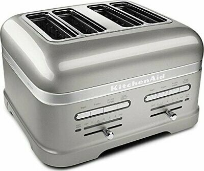 KitchenAid KMT4203SR Pro Line Series Sugar Pearl Silver 4-Slice Automatic Toa...