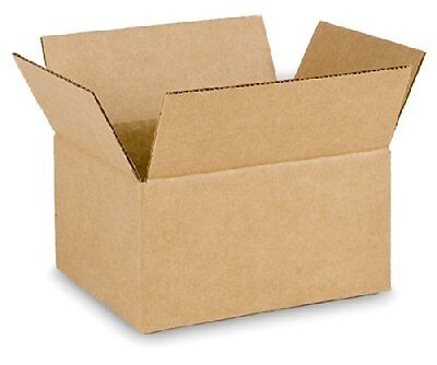 8x6x4 25 Kraft Single Wall Corrugated Cardboard Shipping Moving Boxes