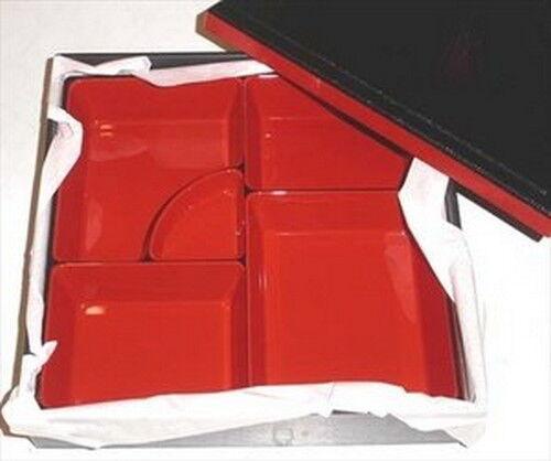 Japanese Hakoya Syokado Plastic Lacquer Bento Lunch Box #7355 S-1923