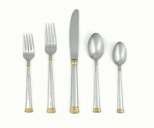 Lenox-Eternity-Gold-45-Piece-Stainless-Steel-18-10-Flatware-Set-New-in-Box