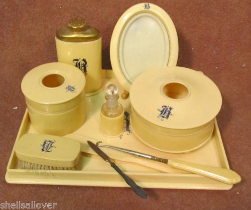 Vanity tray set ebay for Bathroom tray set