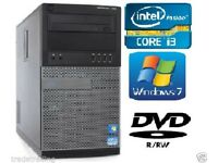 Dell OptiPlex 390 Tower i3- 4GB 250GB Windows 7 Pro 64 Bit DVDRW Warranty