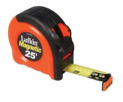(Lufkin L725MAG 1-Inch x 25 Power Return Tape Measure with Magnetic End Hook)