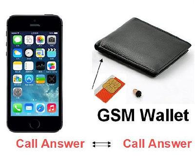GSM Wallet Earpiece Spy Hidden Covert Transmitter Mini SIM Box Cheat Exam Test