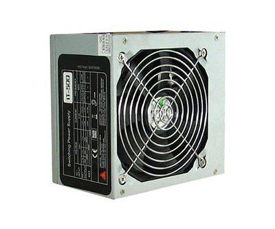 500 WATT ATX PC Computer Netzteil 3x SATA 120mm silent leiser Lüfter 500W +Kabel