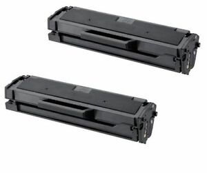 2-Pack/Pk Samsung MLT-D101S Black Toner Cartridge ML-2165W SCX-3405W SF760P