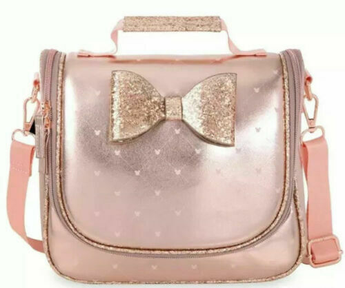 Disney Store Minnie Mouse Pink Rose Gold Lunch Box Tote Bag ~ NWT