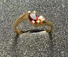 Garnet Silver Plated Fashion Rings