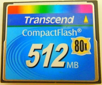 Transcend 512MB Compact Flash CF Industrial 512M Memory Card 100% Genuine 80X