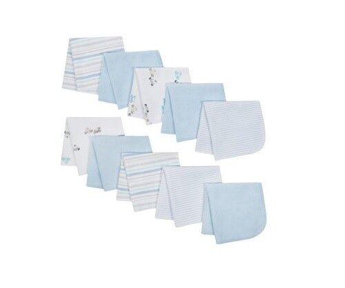 Wonder Nation Baby Boy 10-Pack Light Blue Puppy Terry Washcloths