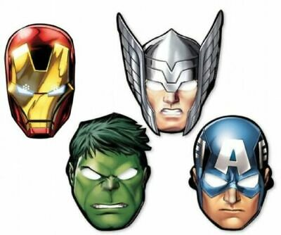 Marvel Avengers  Dress Up Card Masks - Fancy Dress Party Bag Fillers Face Mask (Avengers Dress Up)