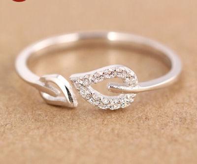 NEW 2018 Silver or Gold Toe Ring Leaf Fashion Adjustable Loving Heart CDN SELLER (Gold Toe Ring)