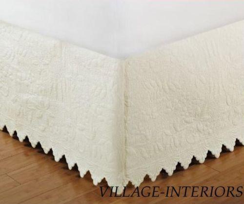 Shabby Chic Bed Skirt King | eBay