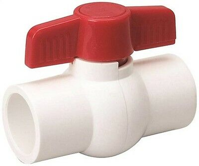 ProLine Quarter Turn Solvent Ball Valve 1-1/2 In S X S 150 Psi PVC SCH 40