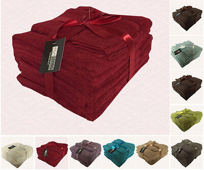 LUXURY 10 PIECE TOWEL BALE SET 100% EGYPTIAN COTTON FACE, HAND, BATH TOWELS