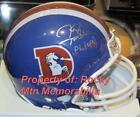 Denver Broncos Autographed Mini Helmets