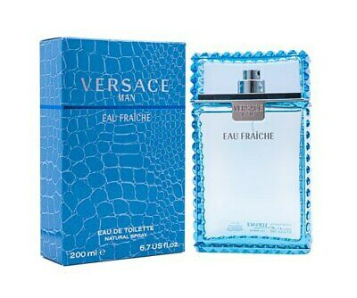 Versace Man Eau Fraiche by Gianni Versace 6.7 oz EDT Cologne for Men New In Box