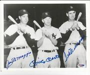 Joe DiMaggio Mickey Mantle Ted Williams