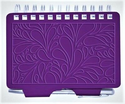 8967   Wellspring Terrace Purple Embossed Password Organizer Book With Pen